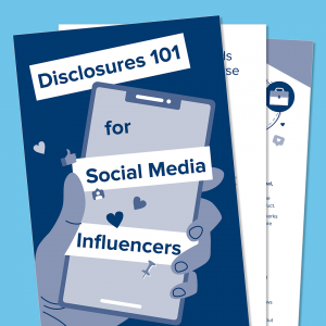 Disclosures for social media influencers